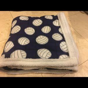 Fleece Purple Volleyball Sherpa Blanket